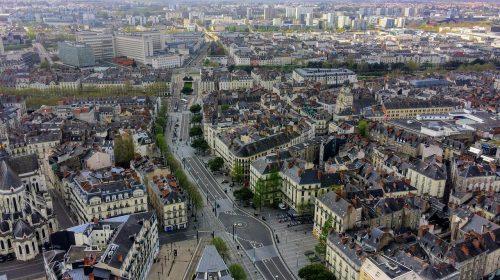 paysage urbain ville de Nantes