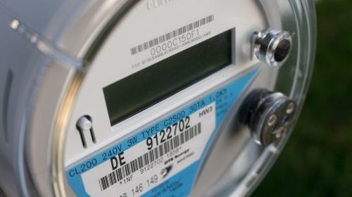 un compteur d'électricité EDF ancienne generation