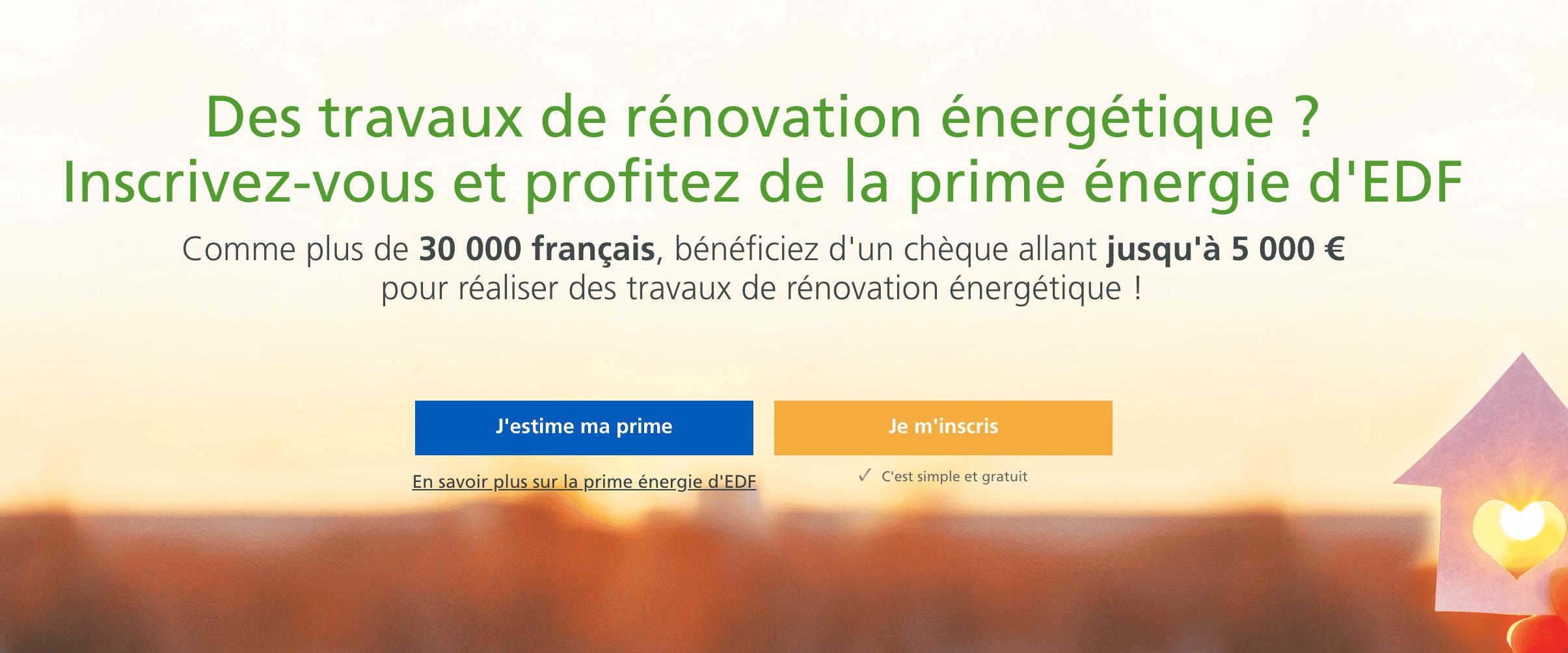 Prime travaux économies d'énergie avec EDF