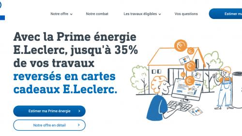 Prime travaux économies d'énergie avec E.Leclerc